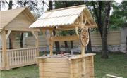 садовая мебель Беседки качели колодцы песочницы